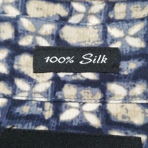 Claiborne Shirts - Claiborne 100% silk men's short sleeve shirt NWOT